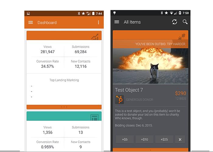 hubspot app vs the auction app were shameless
