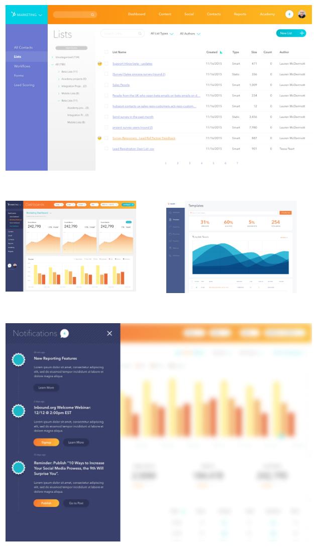 HubSpot design concepts - new colors, fonts, etc.